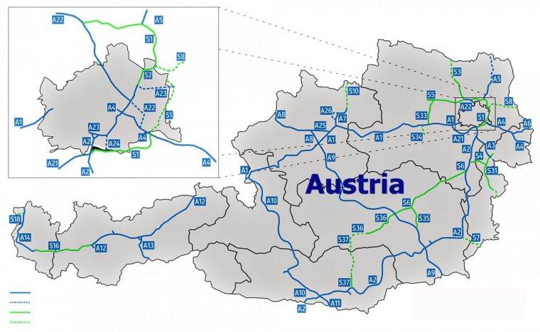Autostrăzile Din Austria Autobahnen In Osterreich