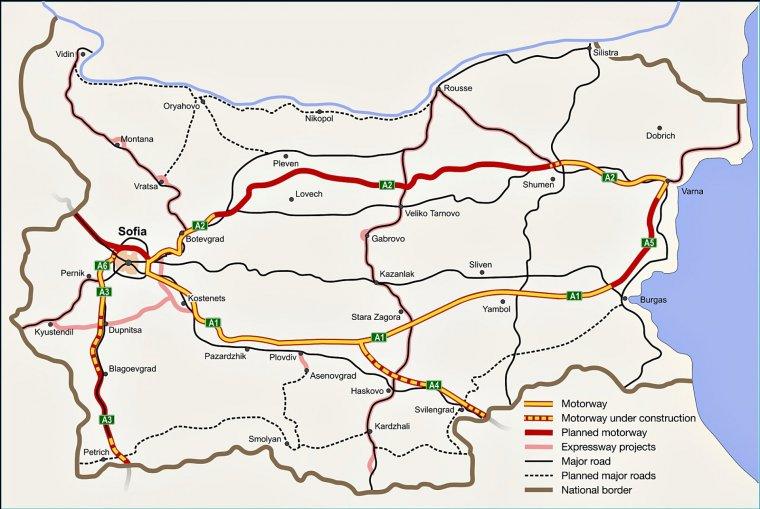 Autostrăzile Din Bulgaria
